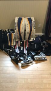 Selling full goalie gear set ! Reebok pads/glove/blocker!!