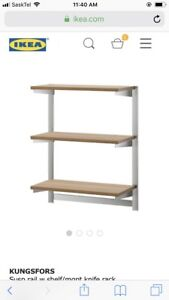 2 Kungsfors IKEA shelving units and accessories