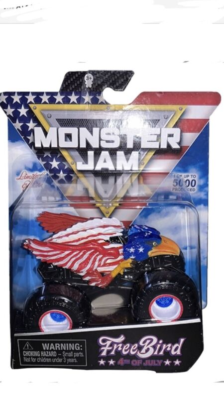 2020 SPIN MASTER MONSTER JAM 4TH OF JULY FREE BIRD 1 OF 5000 BRAND NEW