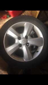 Set of KIA Rims and Tires