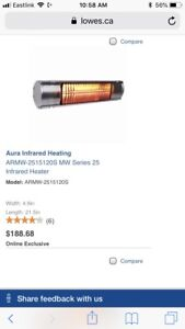 Aura Indoor/Outdoor Heaters 1500w