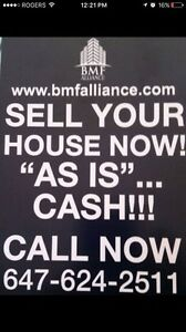 WE BUY HOMES FOT CASH