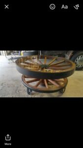 Authentic Wagon Wheel Tables