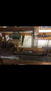 Wood lathe and new knives