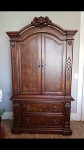 Stunning Armoire and King Bed