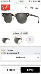 Authentic Ray-Ban Clubmaster Classic