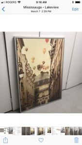 Large Ikea artwork hot air balloon picture