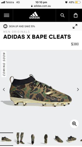 0eb266360 Adidas x Bape cleat
