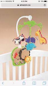 """Luv u zoo"" crib mobile"