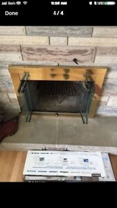 Fireplace insert front / wood burning excellent shape nice look