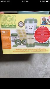 Magic Baby Bullet with storage trays