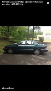 1994 Plymouth Acclaim needs new transmission