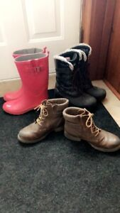Assorted boots
