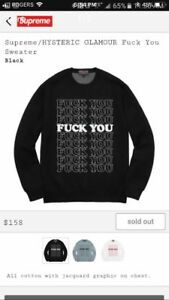 Authentic Supreme Hysteric Glamour FU Sweater
