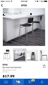 4 Bar stool with backrest
