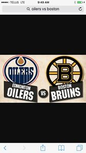 Oilers vs Boston March 16  $200 for the pair