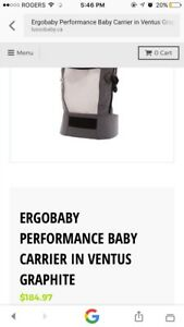 Brand New ErgoBaby Performance Baby Carrier