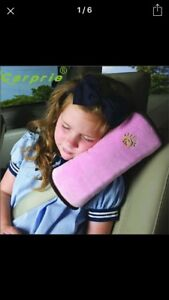 Child protective car seat belt pillow.