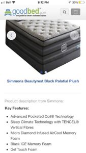 Almost new Beauty Rest Black edition