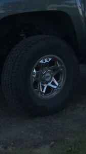 Trade 6 bolt Chevy/gm rims and tires