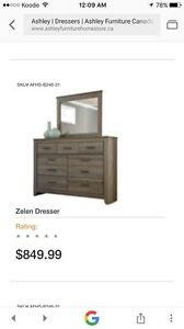 Dresser with mirror  used only few month from Ashly