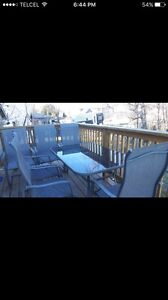 Patio set with chairs like picture