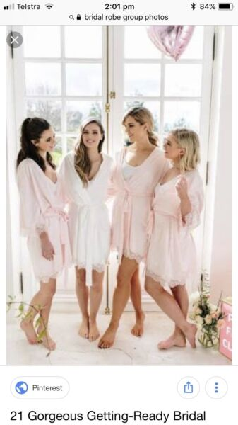 Bridal robes dressing gown mother of the bride bridesmaids | Wedding ...