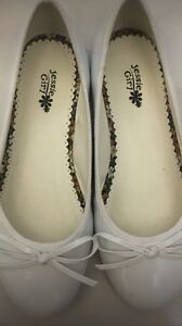 Girls white flat shoes