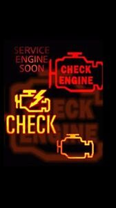Engine light on let's get it fixed save on gas