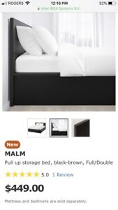 IKEA MALM BED and mattress. ALMOST NEW