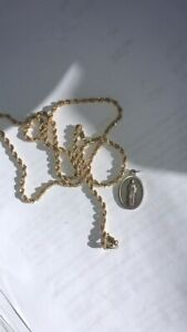 10K  Gold Rope Chain and pendant
