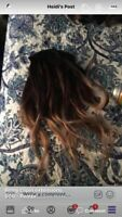 Real Remy Clip in hair extensions