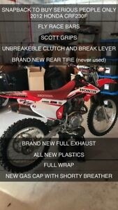2012 honda crf230f (REDUCED PRICE)