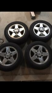 """GMC 8 Bolt  20"""" chrome rims and 2 sets of tires"""