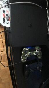 1TB Slim PS4 Mint Condition 20+ games two controllers