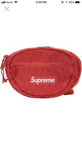 Supreme FW18 Waist Bag - Red - Brand New