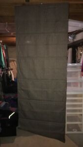 3 Coffee Brown drawl string curtain panels.