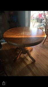 Kitchen Table With Leaf & 3 Chairs