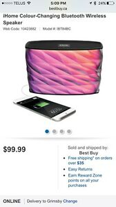 IHome colour changing / power bank wireless speaker