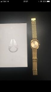 Unisex Nixon Time Teller Watch Gold