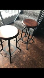 Two counter / barstools