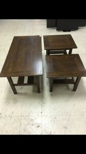 Ashley coffee table and end tables