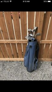 Golf clubs and bag $20