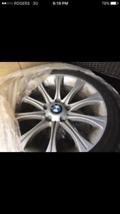 BMW winter tires on BMW aluminum rims 335is 225/45/17