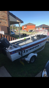 4.3m front stear aluminium boat Figtree Wollongong Area Preview
