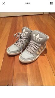 Adidas grey high tops - size 8.5 US