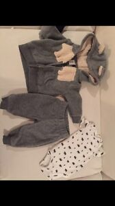 3 month boys winter sets and romper .