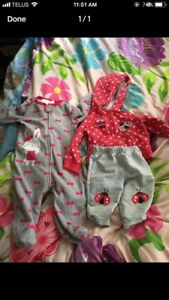 Baby girl sleeper and outfit