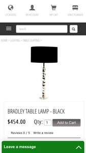 Casalife Bradley table lamps two for $400