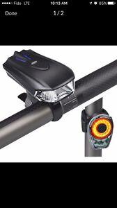 ONEU LED Bike Light Set, USB Rechargeable LED Bicycle Light Set